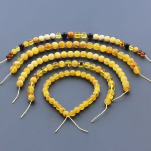Natural Baltic Amber Loose Beads Strings Set of 5pcs. 36gr. ST1111