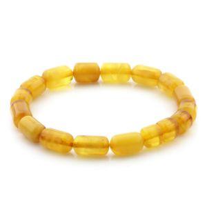 Natural Baltic Amber Bracelet Large Cylinder Beads 11mm 6.70gr SPR245