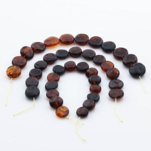 Natural Baltic Amber Loose Beads Strings Set of 3pcs. 40gr. ST1123