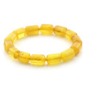 Natural Baltic Amber Bracelet Large Cylinder Beads 13mm 9.40gr SPR240