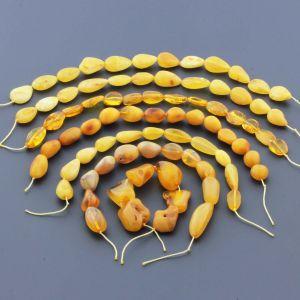 Natural Baltic Amber Loose Beads Strings Set of 7pcs. 62gr. ST1126