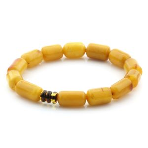 Natural Baltic Amber Bracelet Large Cylinder Beads 13mm 7.28gr SPR251