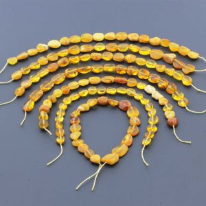 Natural Baltic Amber Loose Beads Strings Set of 7pcs. 43gr. ST1128