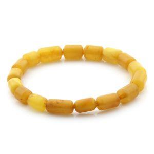 Natural Baltic Amber Bracelet Cylinder Beads 9mm 5.51gr SPR264