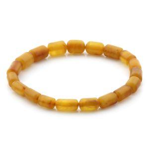 Natural Baltic Amber Bracelet Cylinder Beads 9mm 4.60gr SPR263