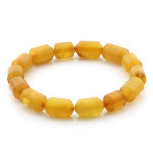 Natural Baltic Amber Bracelet Large Cylinder Beads 13mm 7.51gr SPR262