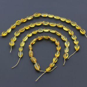 Natural Baltic Amber Loose Beads Strings Set of 4pcs. 22gr. ST661