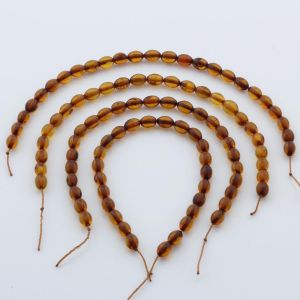 Natural Baltic Amber Loose Beads Strings Set of 4pcs. 17gr. ST664