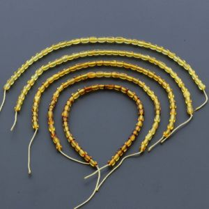 Natural Baltic Amber Loose Beads Strings Set of 5pcs. 11gr. ST668
