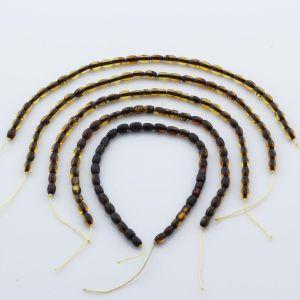 Natural Baltic Amber Loose Beads Strings Set of 5pcs. 11gr. ST672