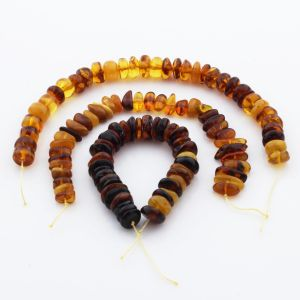 Natural Baltic Amber Loose Beads Strings Set of 3pcs. 36gr. ST1191
