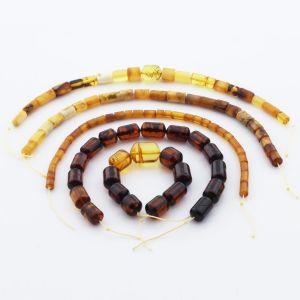 Natural Baltic Amber Loose Beads Strings Set of 5pcs. 39gr. ST1207