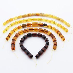 Natural Baltic Amber Loose Beads Strings Set of 5pcs. 52gr. ST1208