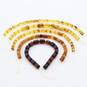 Natural Baltic Amber Loose Beads Strings Set of 5pcs. 38gr. ST1210