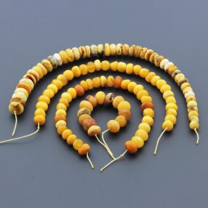 Natural Baltic Amber Loose Beads Strings Set of 4pcs. 43gr. ST1214