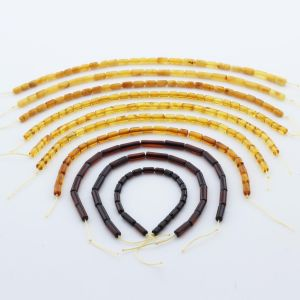 Natural Baltic Amber Loose Beads Strings Set of 10pcs. 41gr. ST1218