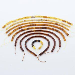 Natural Baltic Amber Loose Beads Strings Set of 9pcs. 27gr. ST1219