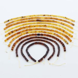 Natural Baltic Amber Loose Beads Strings Set of 11pcs. 38gr. ST1222