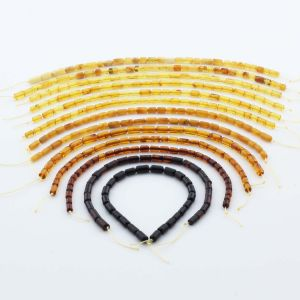 Natural Baltic Amber Loose Beads Strings Set of 13pcs. 41gr. ST1223