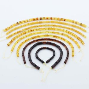 Natural Baltic Amber Loose Beads Strings Set of 9pcs. 43gr. ST1225