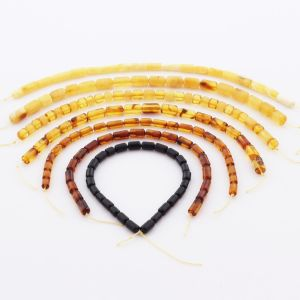 Natural Baltic Amber Loose Beads Strings Set of 7pcs. 35gr. ST1227