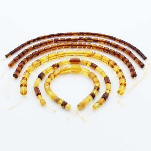 Natural Baltic Amber Loose Beads Strings Set of 6pcs. 33gr. ST1230