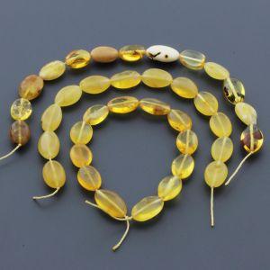 Natural Baltic Amber Loose Beads Strings Set of 3pcs. 24gr. ST602