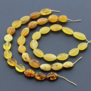 Natural Baltic Amber Loose Beads Strings Set of 3pcs. 28gr. ST609