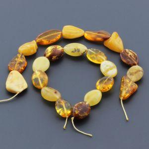 Natural Baltic Amber Loose Beads Strings Set of 2pcs. 18gr. ST621