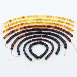 Natural Baltic Amber Loose Beads Strings Set of 9pcs. 61gr. ST1252