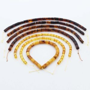 Natural Baltic Amber Loose Beads Strings Set of 7pcs. 36gr. ST1253