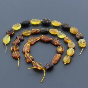 Natural Baltic Amber Loose Beads Strings Set of 3pcs. 26gr. ST625