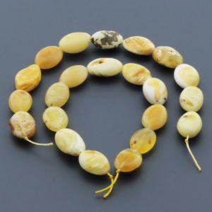 Natural Baltic Amber Loose Beads Strings Set of 2pcs. 20gr. ST628