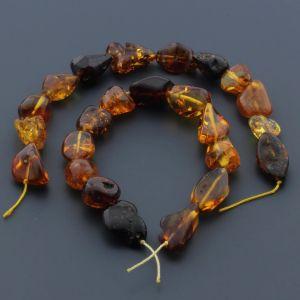 Natural Baltic Amber Loose Beads Strings Set of 2pcs. 23gr. ST629