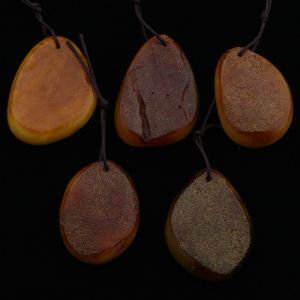 Natural Baltic Amber Pendant Set of 5pcs. 23gr. PS23