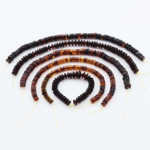 Natural Baltic Amber Loose Beads Strings Set of 6pcs. 34gr. ST1281