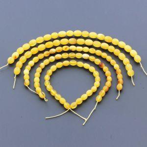 Natural Baltic Amber Loose Beads Strings Set of 5pcs. 42gr. ST1284