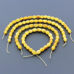 Natural Baltic Amber Loose Beads Strings Set of 4pcs. 38gr. ST1286