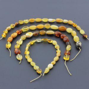 Natural Baltic Amber Loose Beads Strings Set of 4pcs. 25gr. ST656