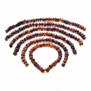 Natural Baltic Amber Loose Beads Strings Set of 6pcs. 64.78gr. ST1377