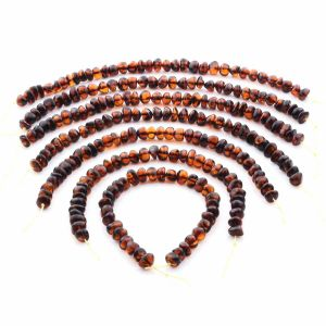 Natural Baltic Amber Loose Beads Strings Set of 7pcs. 72.4gr. ST1378