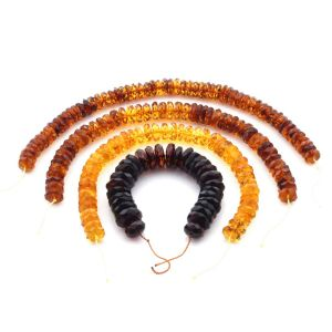 Natural Baltic Amber Loose Beads Strings Set of 4pcs. 50.4gr. ST1383