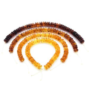 Natural Baltic Amber Loose Beads Strings Set of 4pcs. 46gr. ST1387