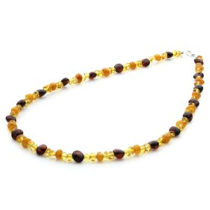 Adult Baltic Amber & 925 Sterling Silver Necklace 45cm. Limited Edition LE05