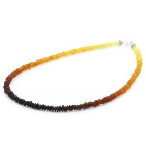 Adult Baltic Amber & 925 Sterling Silver Necklace 45cm. OCT19