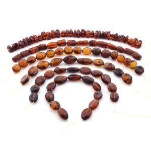 Natural Baltic Amber Loose Beads Strings Set of 6pcs. 75.2gr. ST1413