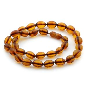 Natural Baltic Amber Necklace Olive Beads up to 12mm 48cm 18gr. NPR12
