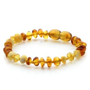 Baltic Amber Teething Bracelet. Limited Edition LE49