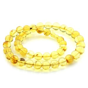 Natural Baltic Amber Necklace Cylinder Beads up to 13mm 52cm 39gr. NPR37