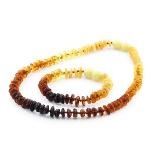 Baltic Amber Teething Necklace & Bracelet Set. Exclusive Edition EE3